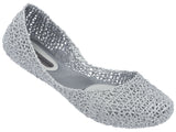 Melissa Women's silver netting jelly flats shoes