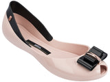 Melissa Women's pink jelly flats shoes with bow