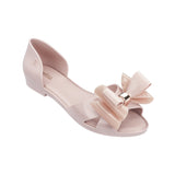 Melissa Women's pink jelly sandals with bow