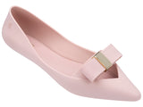 Melissa Women's pink jelly flats with bow