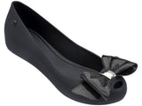 Melissa Women's black jelly flats with bow