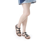 Melissa Women's black and brown jelly sandals with strap