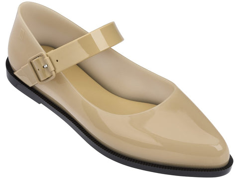 Melissa Women's beige jelly flats with strap