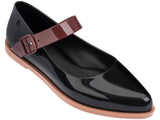 Melissa Women's black jelly flats with strap