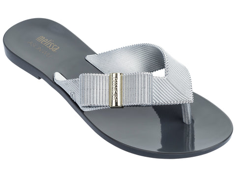 Melissa Women's black and silver closed jelly sandals