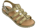 Melissa Women's gold jelly sandals with straps