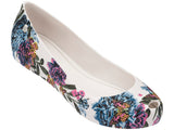 Melissa Women's white jelly flats with flower