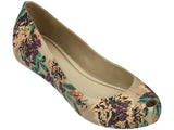 Melissa Women's beige jelly flats with flower