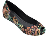 Melissa Women's black jelly flats with flower