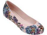 Melissa Women's pink jelly flats with flower
