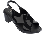 Melissa Women's black jelly heels with cross strap