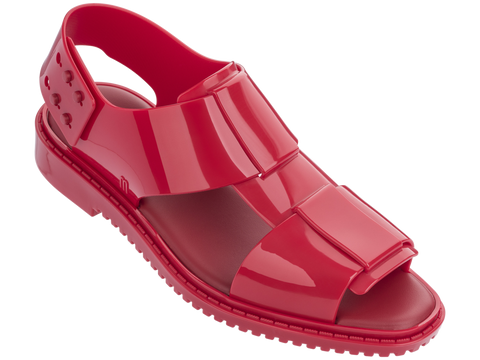Melissa Women's red jelly sandals with big strap