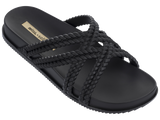 Melissa Women's black jelly flip flops with double cross strap