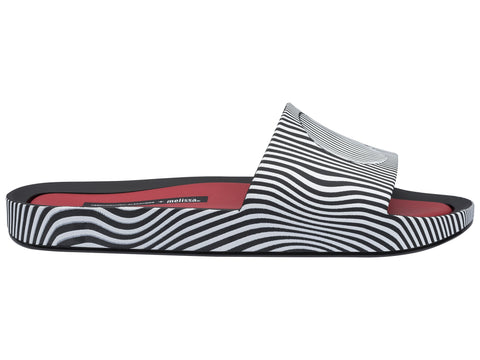Melissa Women's black and white jelly flip flops