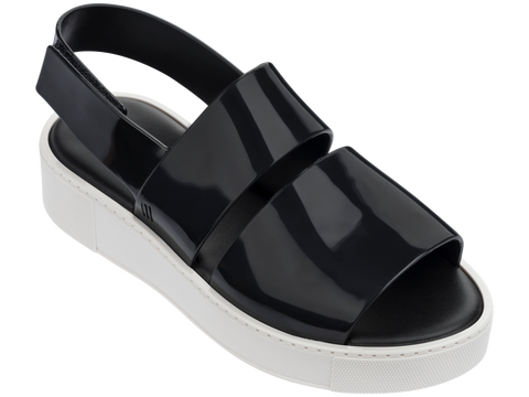 Melissa Women's black jelly sandals with double strap