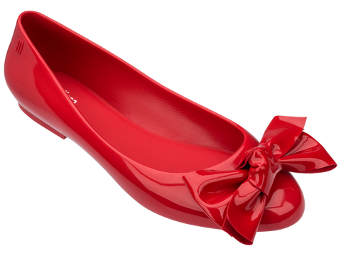 Melissa Women's red jelly flats with bow