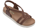 Melissa Women's brown jelly sandals with platform