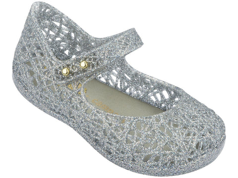 Melissa Kids silver jelly sandals