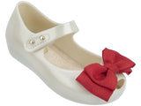 Melissa Kids white jelly sandals with bow