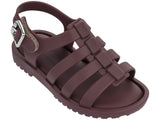Melissa kid's brown jelly sandals with strap