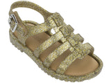 Melissa kid's gold jelly sandals with strap