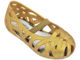 Mini Melissa Kid's gold flats