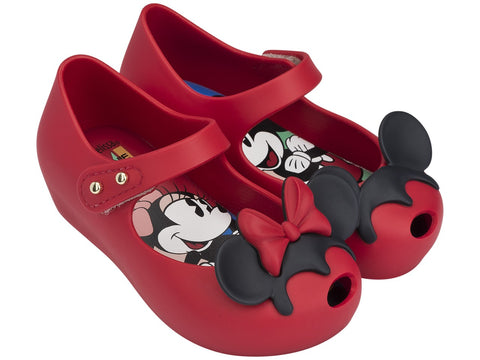 Melissa Kids red jelly sandals with Minnie face