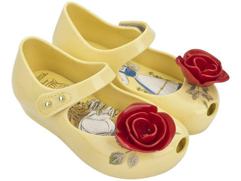 Melissa Kids yellow jelly sandals with cartoon teapot
