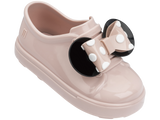Melissa Kids pink jelly sandals with cartoon minnie and bow