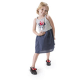 Melissa Kids black jelly sandals with cartoon minnie and bow