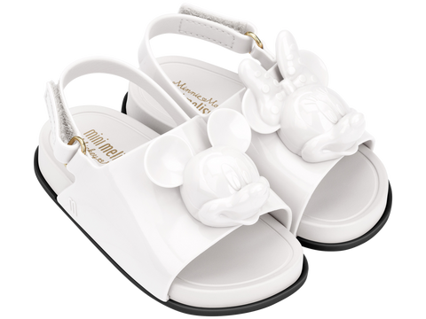 Melissa Kids white  jelly sandals with cartoon minnie