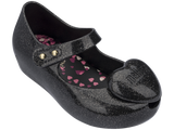 Melissa Kids black jelly sandals with heart decoration