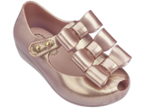 Mini Melissa babies pink jelly flats with 3 bow
