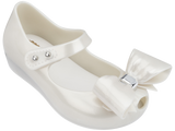 Melissa Kids white jelly sandals with big bow