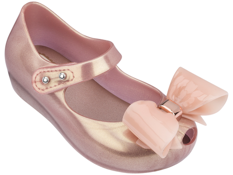 Melissa Kids pink jelly sandals with big bow
