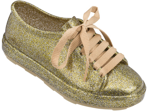Melissa kid's gold jelly sneakers