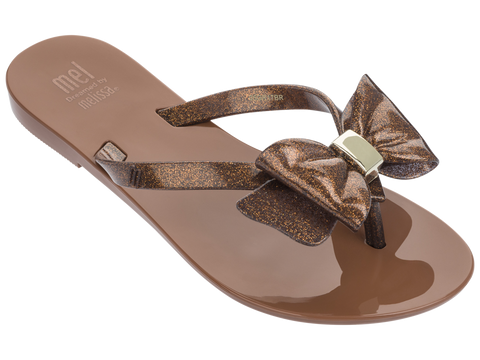 Melissa Women's Kid's jelly flip flops with bow