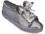 Melissa Women's silver jelly sneakers with micky ears