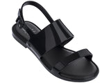 Melissa Kid's black jelly flip flops with 2 straps