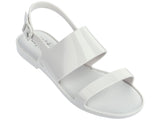 Melissa Kid's white jelly flip flops with 2 straps
