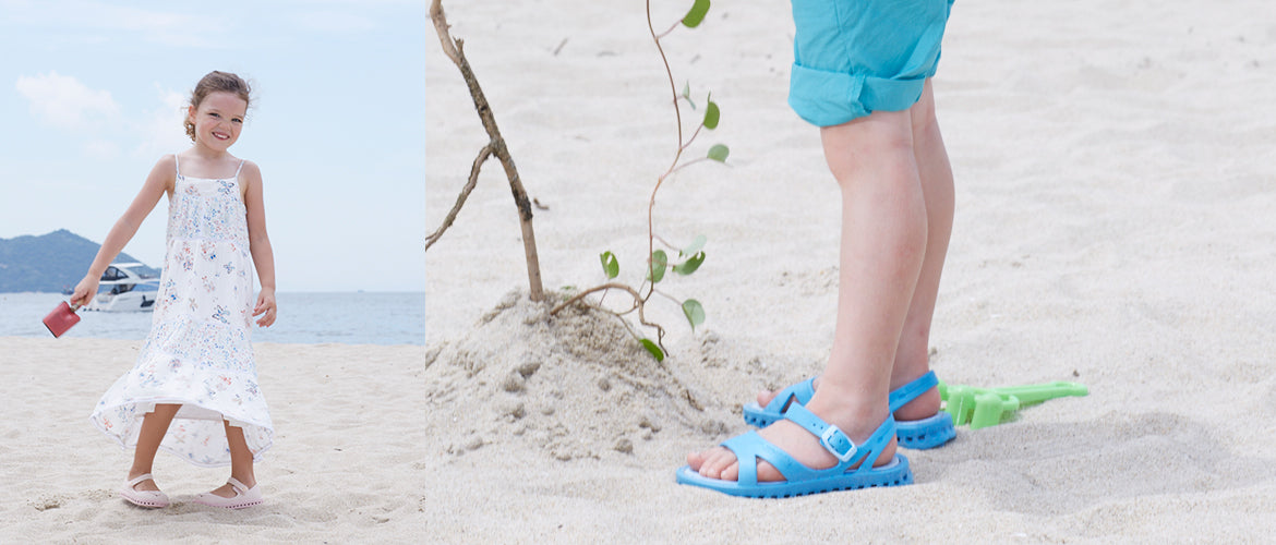 ventolation ibiza girls sand free sandals/shoes for beach