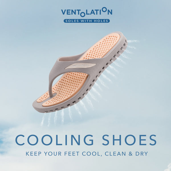 ventolation cooling shoes, keep your feet cool, clean and dry