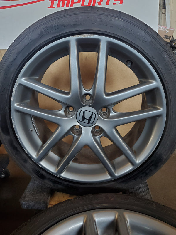 JDM 04-08 ACURA TSX HONDA Accord Euro R CL7 CL9 K24A RSX 17X7 +55 OEM RIMS ONLY!