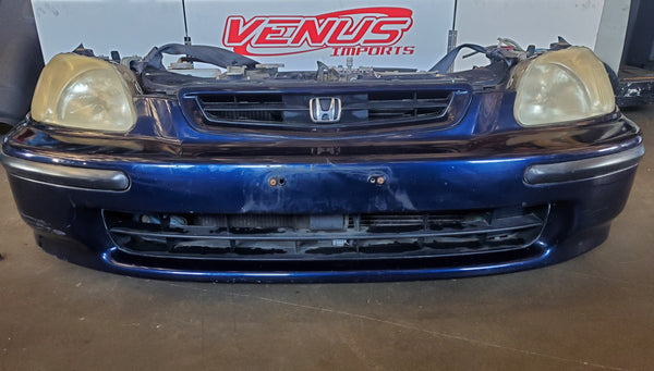 JDM 96-98 Honda Civic EK3 Front Nose Cut Bumper Headlights EK9 EK4 SiR