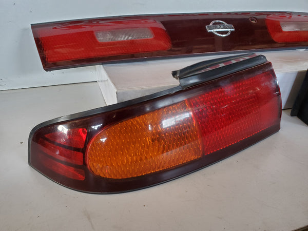 JDM Nissan 94-98 Silvia S14 240sx Tail Lamps Lights Center Garnish ZENKI