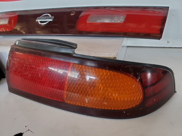JDM Nissan 94-98 Silvia S14 240sx Tail Lamps Lights Center Garnish Panel ZENKI