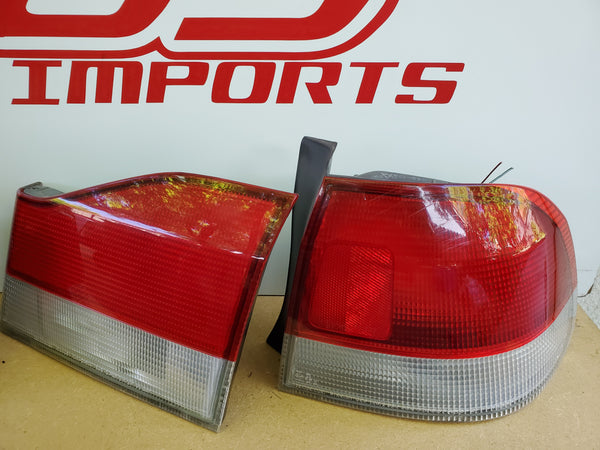 JDM Honda Domani Acura 1.6 EL Civic Tail Lights Set 1996-2000 4-door