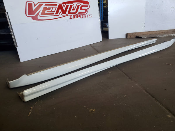 JDM OEM STI Side Skirts for 02-07 Subaru WRX Impreza GDB GDA  White Sedan V8 V9