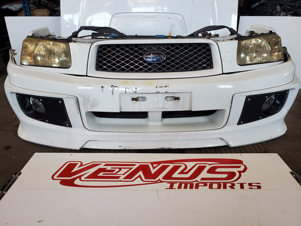 JDM SG5 Subaru 03-05 Forester Crossfire Front End Bumper Lip HID Headlight Hood Grille STI