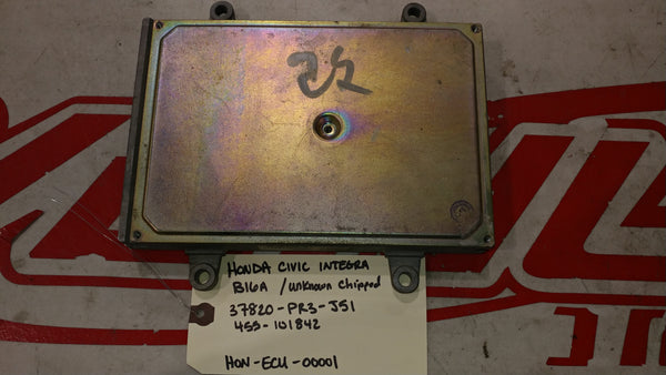 JDM Honda Civic Integra B16A ECU Engine Control Automatic CHIPPED